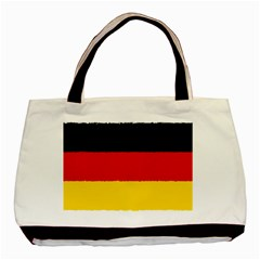 German Flag, Banner Deutschland, Watercolor Painting Art Basic Tote Bag (two Sides)