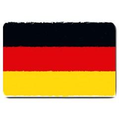 German Flag, Banner Deutschland, Watercolor Painting Art Large Doormat