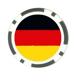 German Flag, Banner Deutschland, Watercolor Painting Art Poker Chip Card Guard