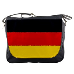 German Flag, Banner Deutschland, Watercolor Painting Art Messenger Bags