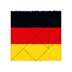 German Flag, Banner Deutschland, Watercolor Painting Art Acrylic Tangram Puzzle (4  X 4 )
