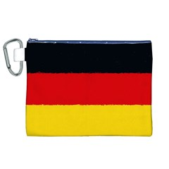 German Flag, Banner Deutschland, Watercolor Painting Art Canvas Cosmetic Bag (xl)