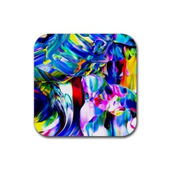 Abstract Acryl Art Rubber Square Coaster (4 Pack)