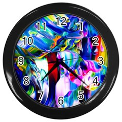 Abstract Acryl Art Wall Clocks (black)