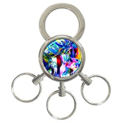 Abstract Acryl Art 3 Ring Key Chains