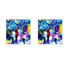 Abstract Acryl Art Cufflinks (square)