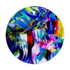 Abstract Acryl Art Round Ornament (two Sides)
