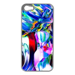 Abstract Acryl Art Apple Iphone 5 Case (silver)
