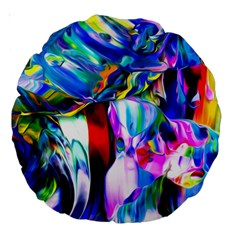 Abstract Acryl Art Large 18  Premium Round Cushions