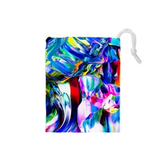 Abstract Acryl Art Drawstring Pouches (small)