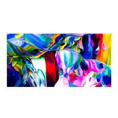 Abstract Acryl Art Satin Wrap