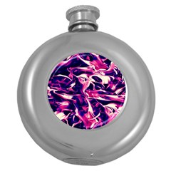 Abstract Acryl Art Round Hip Flask (5 Oz)