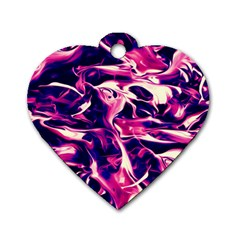 Abstract Acryl Art Dog Tag Heart (two Sides)