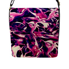 Abstract Acryl Art Flap Messenger Bag (l)