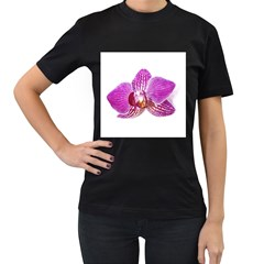 Lilac Phalaenopsis Aquarel  Watercolor Art Painting Women s T Shirt (black)