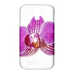 Lilac Phalaenopsis Aquarel  Watercolor Art Painting Samsung Galaxy S4 Classic Hardshell Case (pc+silicone)