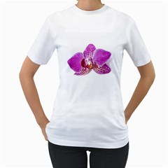 Lilac Phalaenopsis Aquarel  Watercolor Art Painting Women s T Shirt (white)