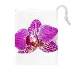 Lilac Phalaenopsis Aquarel  Watercolor Art Painting Drawstring Pouches (extra Large)