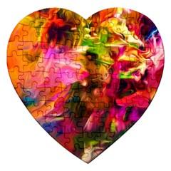 Abstract Acryl Art Jigsaw Puzzle (heart)