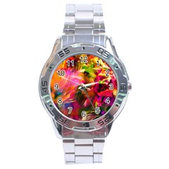Abstract Acryl Art Stainless Steel Analogue Watch