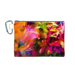 Abstract Acryl Art Canvas Cosmetic Bag (m)