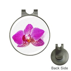 Lilac Phalaenopsis Flower, Floral Oil Painting Art Hat Clips With Golf Markers