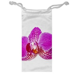 Lilac Phalaenopsis Flower, Floral Oil Painting Art Jewelry Bag