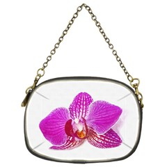 Lilac Phalaenopsis Flower, Floral Oil Painting Art Chain Purses (two Sides)