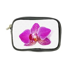 Lilac Phalaenopsis Flower, Floral Oil Painting Art Coin Purse