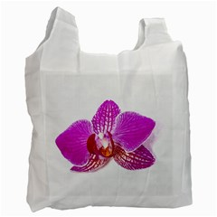 Lilac Phalaenopsis Flower, Floral Oil Painting Art Recycle Bag (two Side)