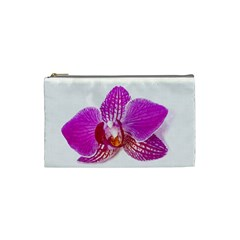 Lilac Phalaenopsis Flower, Floral Oil Painting Art Cosmetic Bag (small)