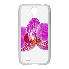 Lilac Phalaenopsis Flower, Floral Oil Painting Art Samsung Galaxy S4 I9500/ I9505 Case (white)