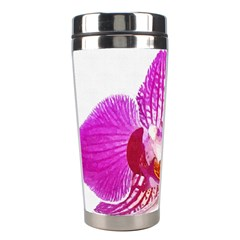 Lilac Phalaenopsis Flower, Floral Oil Painting Art Stainless Steel Travel Tumblers