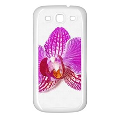 Lilac Phalaenopsis Flower, Floral Oil Painting Art Samsung Galaxy S3 Back Case (white)