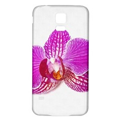 Lilac Phalaenopsis Flower, Floral Oil Painting Art Samsung Galaxy S5 Back Case (white)