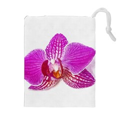 Lilac Phalaenopsis Flower, Floral Oil Painting Art Drawstring Pouches (extra Large)