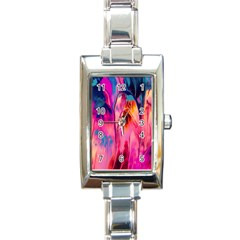 Abstract Acryl Art Rectangle Italian Charm Watch