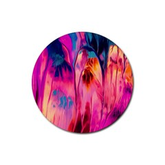 Abstract Acryl Art Rubber Round Coaster (4 Pack)