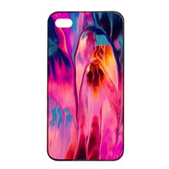 Abstract Acryl Art Apple Iphone 4/4s Seamless Case (black)