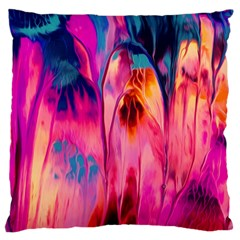 Abstract Acryl Art Large Flano Cushion Case (one Side)