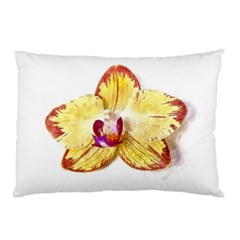 Yellow Phalaenopsis Flower, Floral Aquarel Watercolor Painting Art Pillow Case (two Sides)