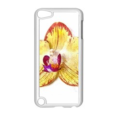 Yellow Phalaenopsis Flower, Floral Aquarel Watercolor Painting Art Apple Ipod Touch 5 Case (white)