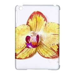 Yellow Phalaenopsis Flower, Floral Aquarel Watercolor Painting Art Apple Ipad Mini Hardshell Case (compatible With Smart Cover)