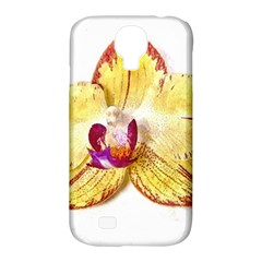 Yellow Phalaenopsis Flower, Floral Aquarel Watercolor Painting Art Samsung Galaxy S4 Classic Hardshell Case (pc+silicone)