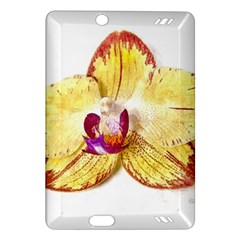 Yellow Phalaenopsis Flower, Floral Aquarel Watercolor Painting Art Amazon Kindle Fire Hd (2013) Hardshell Case