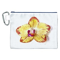 Yellow Phalaenopsis Flower, Floral Aquarel Watercolor Painting Art Canvas Cosmetic Bag (xxl)
