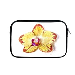 Yellow Phalaenopsis Flower, Floral Aquarel Watercolor Painting Art Apple Macbook Pro 13  Zipper Case