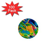 Abstract Acryl Art 1  Mini Buttons (100 Pack)