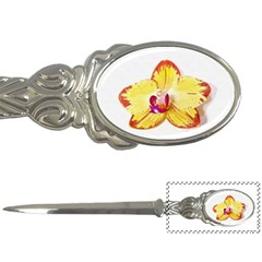 Phalaenopsis Yellow Flower, Floral Oil Painting Art Letter Openers