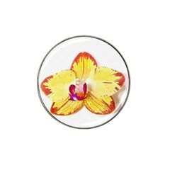 Phalaenopsis Yellow Flower, Floral Oil Painting Art Hat Clip Ball Marker